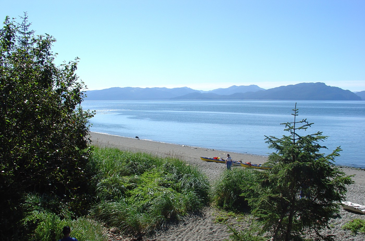Icy Strait kayakers take a break