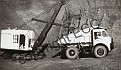 46692 Old photo of Westleigh Quarry - Dump truck & bucket loader c 1950's