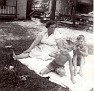 "Edna Marie (ANDERSON) Foust (1904-1970), wife of Parlon D. ""Frosty"" Foust (1903-1947), who was killed in the coal mine accident at Dean, Scott County, TN.1st boy unknown. 2nd boy is her grandson, Ray Pergram."