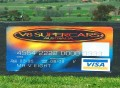 V8 Supercard Visa signwriting