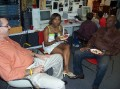 Mr Adrien, Ms Latortue, Mr. Etienne of Antenna 88