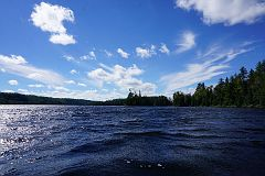 Windy day on Alder Lake