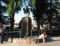 Cowboy statue in Town Square
