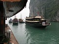 Starting the Cruise around the hundreds of Islands of Halong Bay, Vietnam.