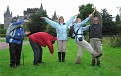 Alan, Bob, Cath, Myra and I spelling out FOTKI in Scotland 9-2006