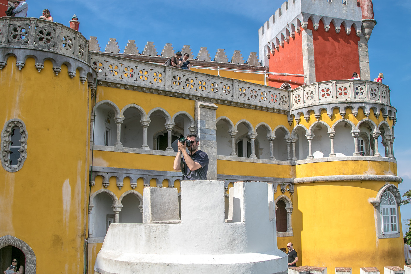 Taking pictures of Pena Palace