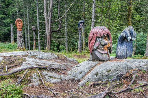 Trolls carved our of wood