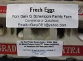 I recycle used egg cartons that people give me... and put these homemade labels on...  $2.00 a dozen...I have a sign at my place...