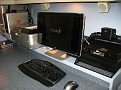 HP Monitor w2338h / Easy Setup... from box to view in less than 10 minutes.  You do not see the reflections head on.