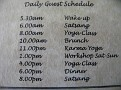 Sivananda Ashram Yoga Ranch...  Daily Schedule