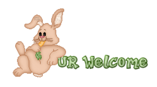 UR Welcome - BunnyWithCarrot