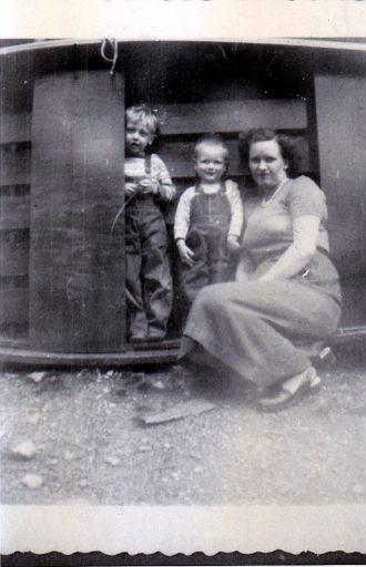 "(36) - Jerry Wayne West, Clarence Luther ""Luke"" West, and Mildred Carleen AUSTIN West."