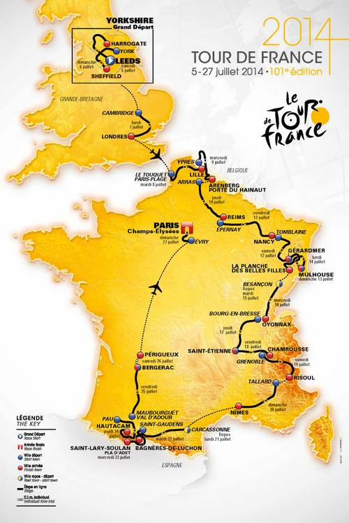 2014 Tour de France Race Route