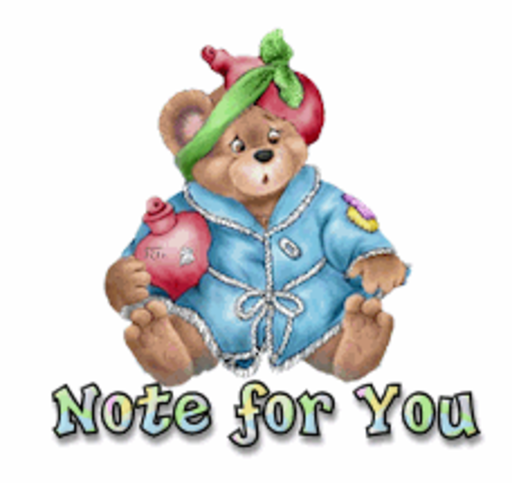 Note for you - BearGetWellSoon