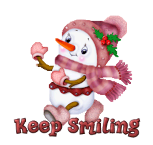 Keep Smiling - CuteSnowman
