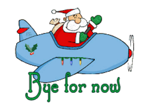 Bye for now - SantaPlane