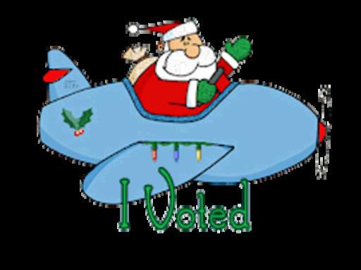 I Voted - SantaPlane