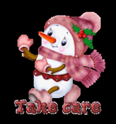 Take care - CuteSnowman