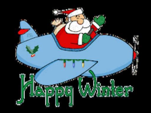 Happy Winter - SantaPlane