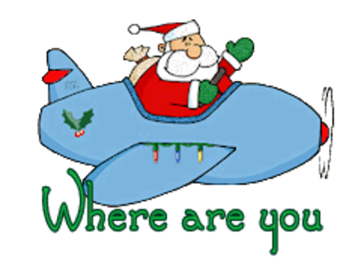 Where are you - SantaPlane