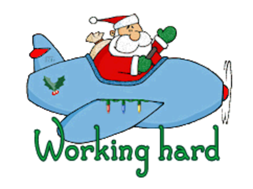 Working hard - SantaPlane