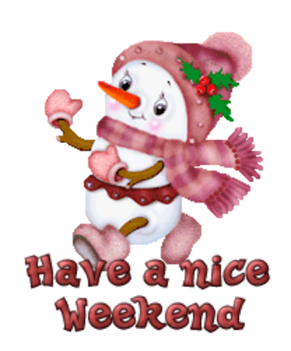 Have a nice Weekend - CuteSnowman