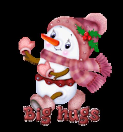 Big hugs - CuteSnowman
