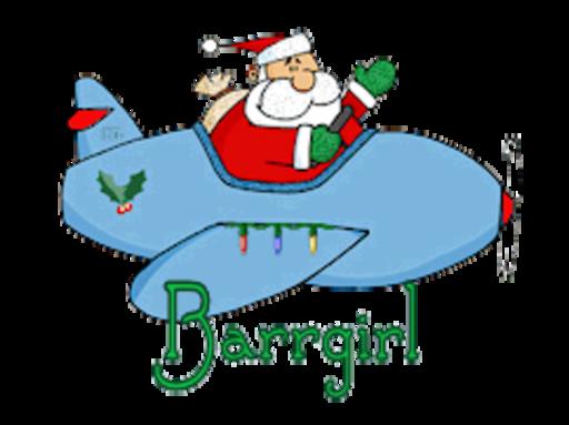 Barrgirl - SantaPlane