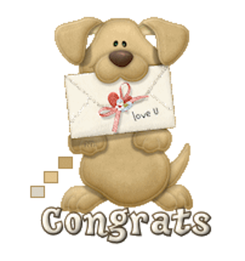 Congrats - PuppyLoveULetter