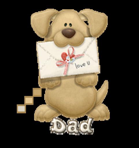 Dad - PuppyLoveULetter