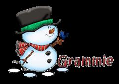 Grammie - Snowman&Bird
