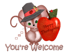 You're Welcome - ThanksgivingMouse