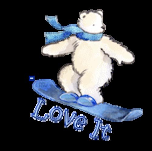 Love It - SnowboardingPolarBear