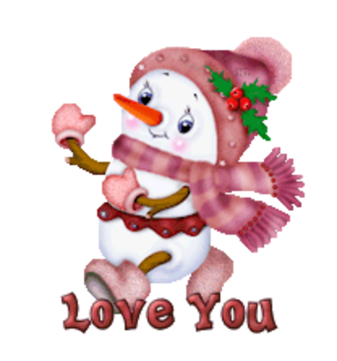 Love You - CuteSnowman