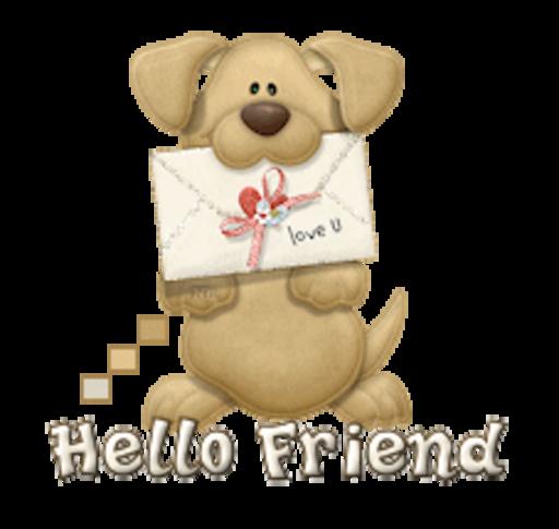 Hello Friend - PuppyLoveULetter