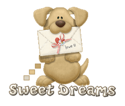 Sweet Dreams - PuppyLoveULetter