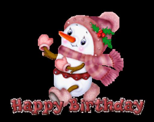 Happy Birthday - CuteSnowman