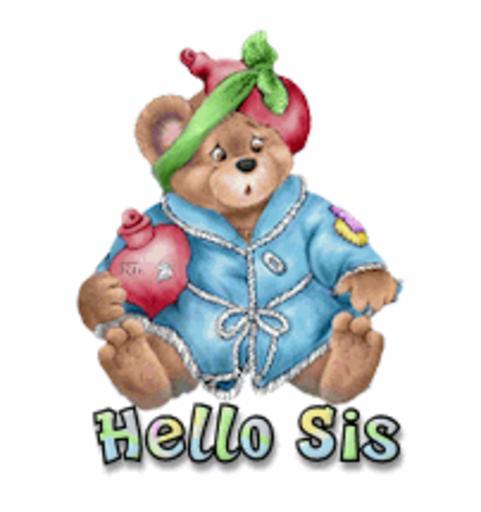 Hello Sis - BearGetWellSoon