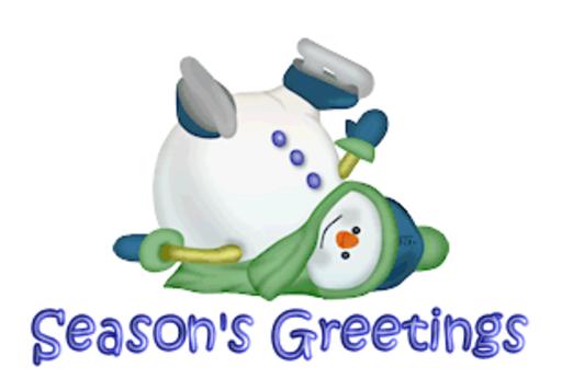 Season's Greetings - CuteSnowman1318