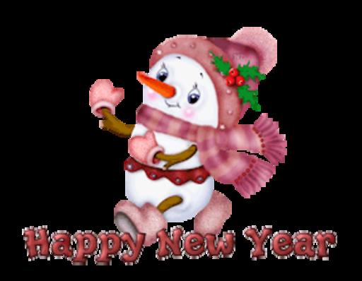 Happy New Year - CuteSnowman