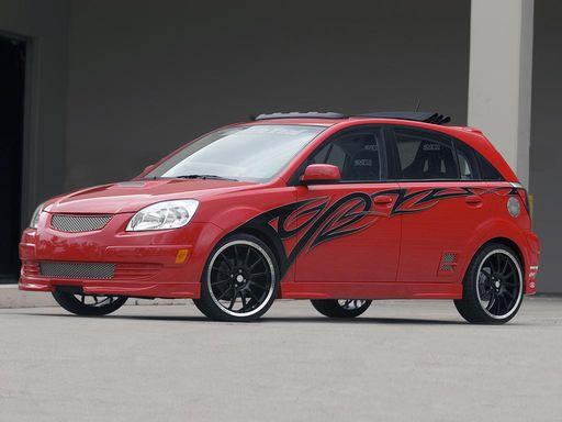 2005 Kia Rio5 Red Rocket