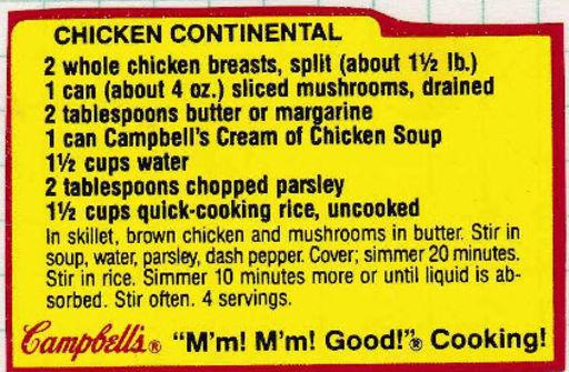 chicken contential