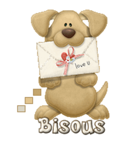 Bisous - PuppyLoveULetter