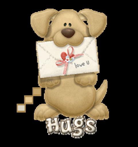 Hugs - PuppyLoveULetter