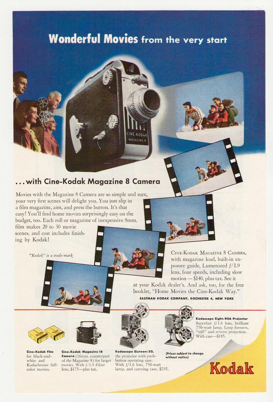 Ciné-Kodak Magazine 8, 1946-55 album | Genazzano | Fotki com