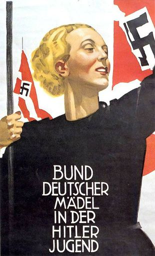 """Propaganda Poster - """"League of German Girls in the Hitler Youth"""""""