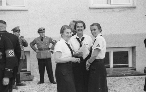 BDM leaders visit Dachau Concentration camp in 1936