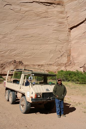 Our Navajo guide with his vehicle