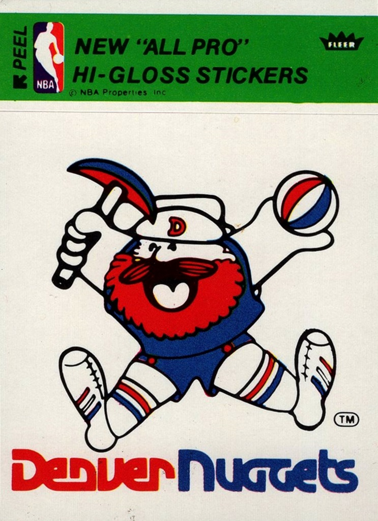 1978-79 NBA Logo Stickers Denver Nuggets (1)