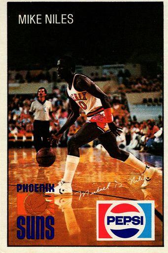 1980-81 Pepsi Phoenix Suns Mike Niles (1)